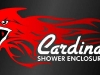 Cardinal Shower Logo - On black gradient