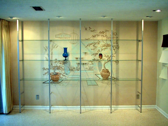 Display Case Gl Mirrors Shelving